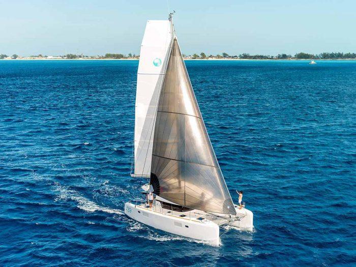 luxurious yacht on the sea